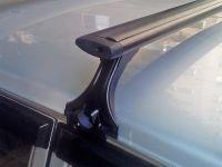 Багажник на крышу на ВАЗ-2113, ВАЗ-2114, ВАЗ-2115, Delta, аэродинамические (крыловидные) дуги, черный цвет