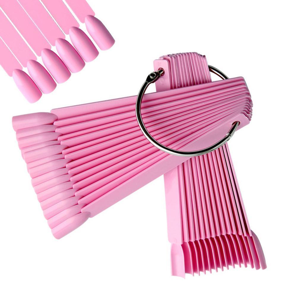 Палитра на кольце (розовая) 50 цветов