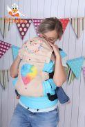 Эрго рюкзак Гусленок СТАНДАРТ с картинкой - Воздушный шар радужный 123 С Молоко