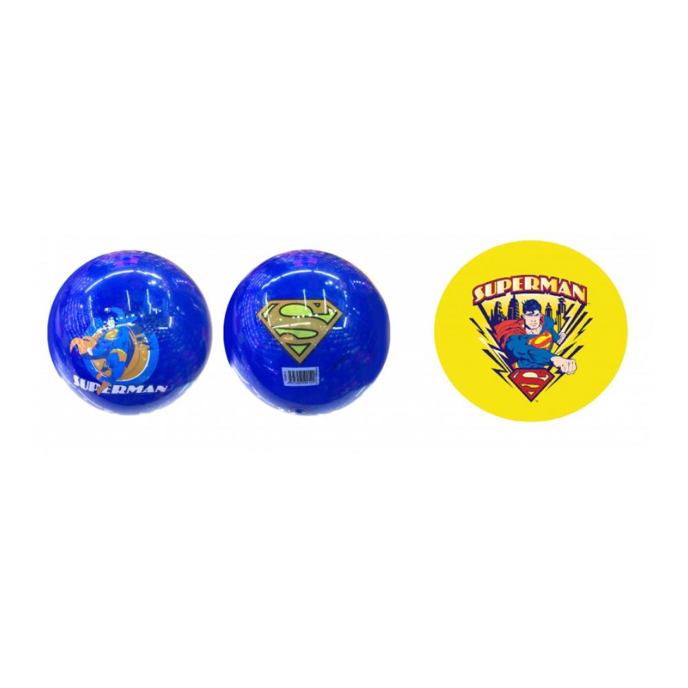 1toy Superman ПВХ мяч, 23 см, 70 гр, деколь, в сетке