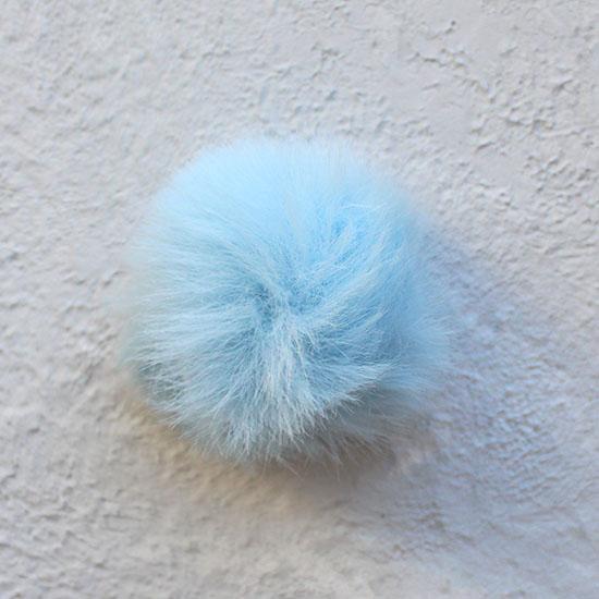 Меховой помпон - Голубой, 5 см