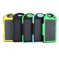 Power Bank с солнечной батареей, 5000 мАч., чёрный