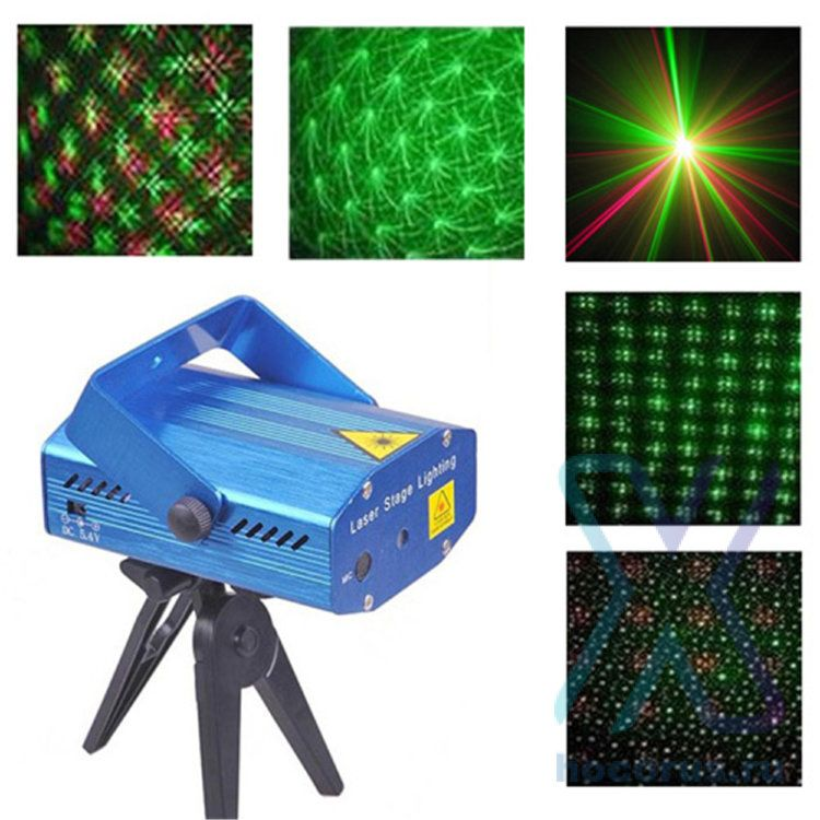 Лазерный проектор Mini Laser Stage Lighting