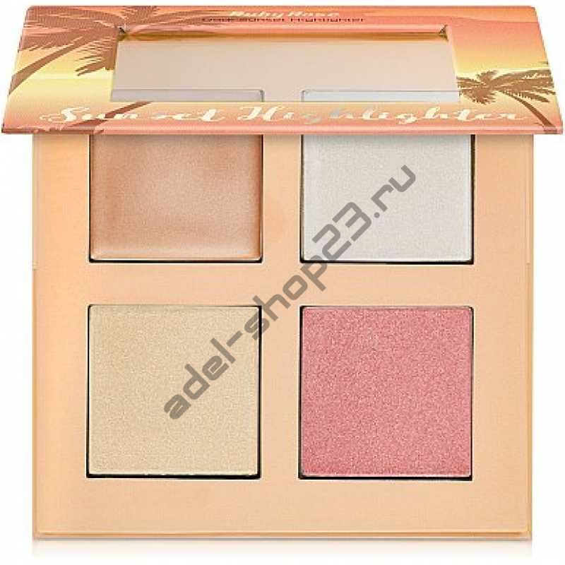 Ruby Rose - Палитра хайлайтеров кремовых и пудровых НВ-7504 Sunset Highlighter