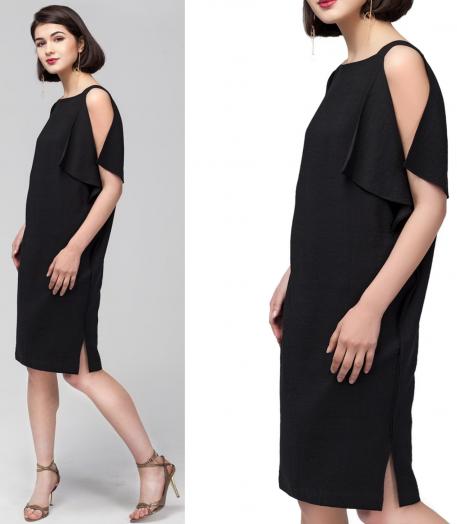 ДИСКОНТ VILATTE D22.356 Платье женское черный