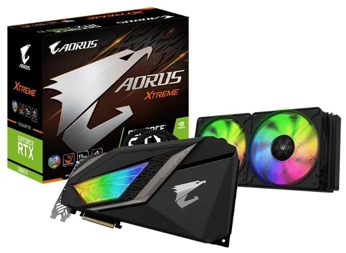 GIGABYTE GeForce RTX 2080 Ti 1770MHz PCI-E 3.0 11264MB 14140MHz 352 bit 3xHDMI HDCP AORUS XTREME WATERFORCE