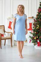 Ночная сорочка арт.0756-16 голубая, интерлок