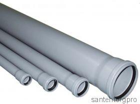 Труба канализационная ПП с раструбом 32х500мм