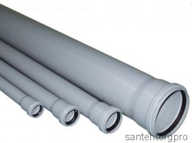 Труба канализационная ПП с раструбом 40х500мм   114050 Птк (Арт. 114050)