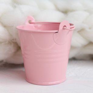 Аксессуар для куклы - Ведёрко розовое  5 см