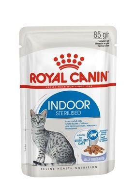 Консервы Royal Сanin Indoor Sterilised Jelly кусочки в желе для домашних кошек 1-7лет  85гр