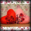 """Подушка - ночник сердце светящаяся """"Розы"""""""