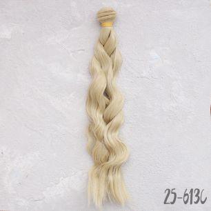 Трессы для создания причеcки куклам - Волны коса теплый блонд 25 см