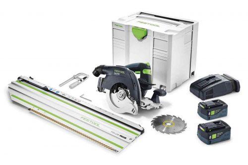 Аккумуляторная дисковая пила HKC 55 Li 5,2 EBI-Set-SCA-FSK 420