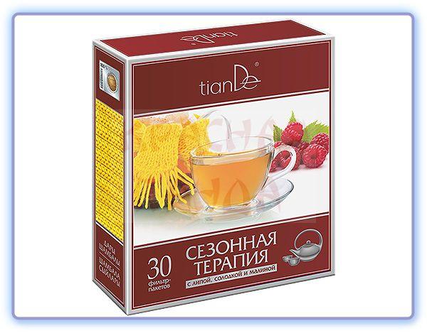 TianDe Фиточай Сезонная терапия с липой, солодкой и малиной