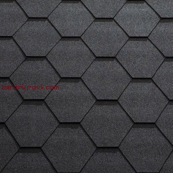 Гибкая черепица Katepal/KL/Чёрный