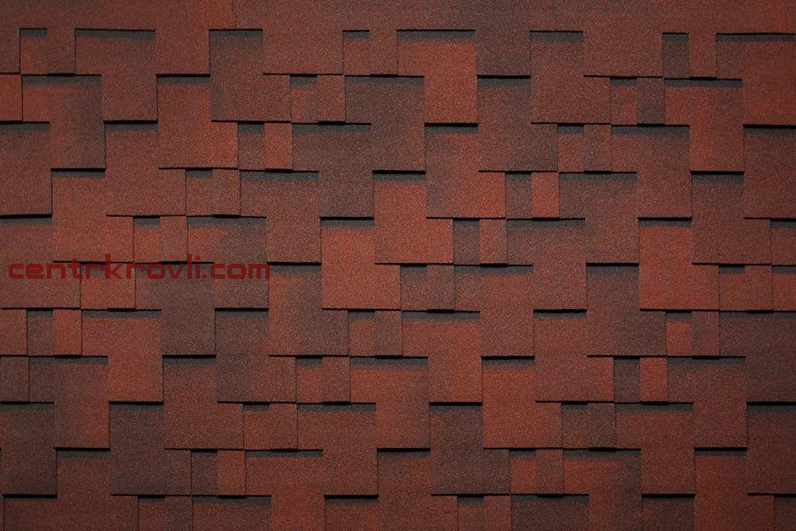 Гибкая черепица Tegola/Norland/Альпин/Красный с отливом