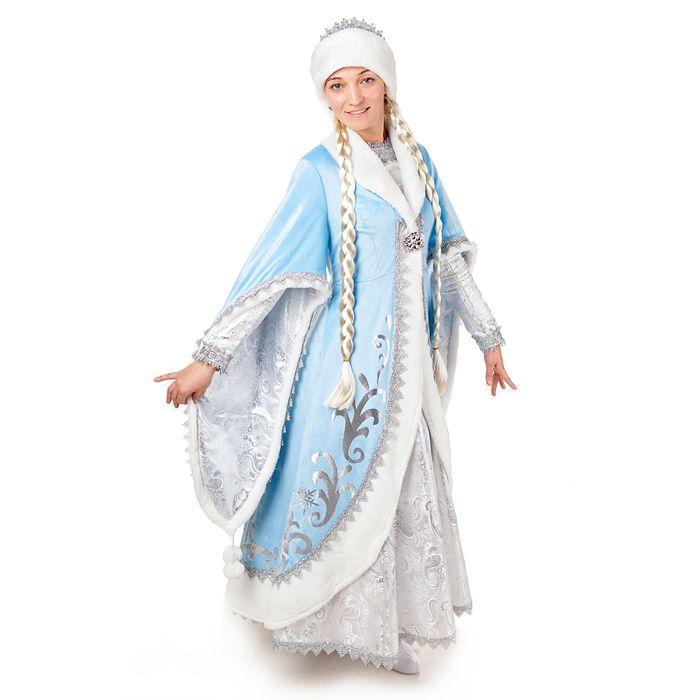 Костюм карнавальный Снегурочка Премиум р 48 (164-96)