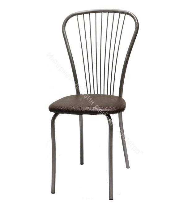 "Кухонный стул ""Лайт 1"" шоколадная рептилия/серебристый металлик"