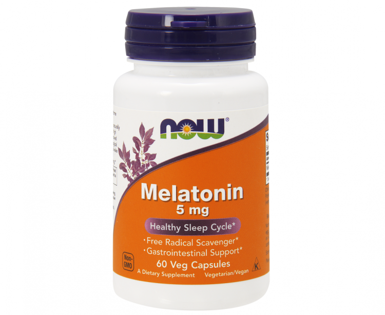Melatonin 5 mg от NOW, 60 капс.