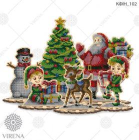 Virena КФІН_102 Комплект фигурок новогодних из дерева для вышивки бисером купить оптом в магазине Золотая Игла