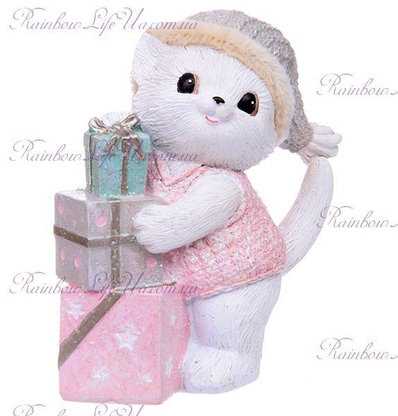 """Фигурка """"Котик с новогодними подарками"""""""