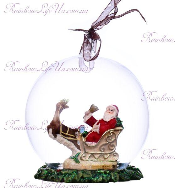 """Шар - подвеска новогодний """"Санта"""""""