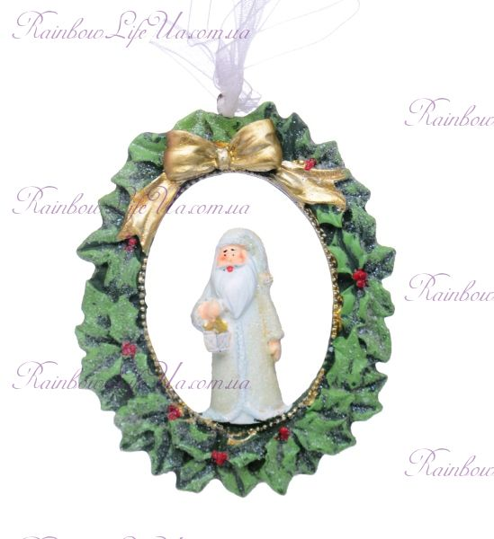 """Подвеска новогодняя """"Санта с подарком"""""""