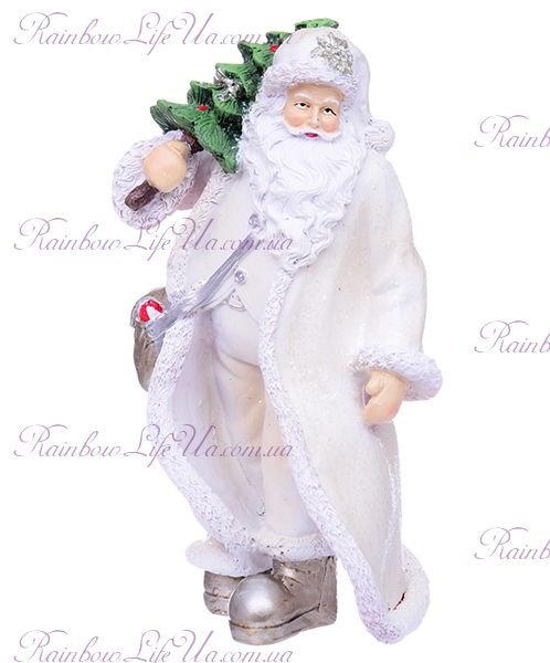 "Статуэтка новогодняя ""Санта с мини елкой"""