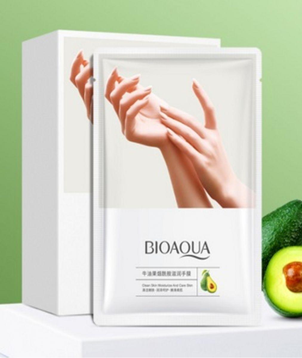 Маски-перчатки для питания и смягчения кожи рук с экстрактом авокадо  и маслом ши от «BIOAQUA».(65938)