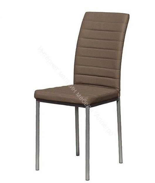 "Кухонный стул ""Соренто Плюс"" кофе/серебристый металлик"
