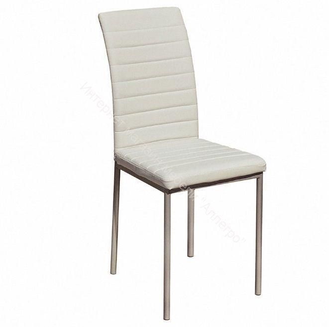 "Кухонный стул ""Соренто Плюс"" белый/серебристый металлик"