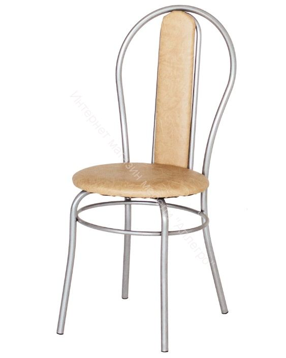 "Кухонный стул ""Элегия мягкий"" бежевый/серебристый металлик"