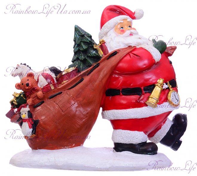 """Фигурка новогодняя """"Санта с мешком подарков"""""""