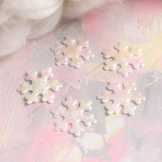 Кукольный аксессуар - Снежинки белые 2 см