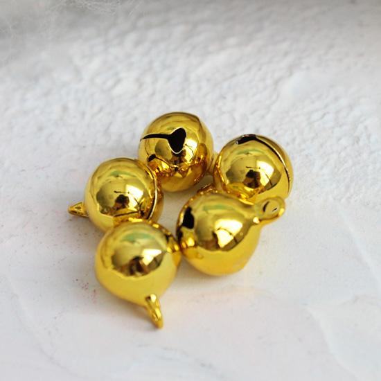 Бубенчики - 1 см Металлические золотые