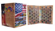 Набор 25 центов (квоттеры) НАЦИОНАЛЬНЫЕ ПАРКИ США 53 шт. (2010-2020) в КАПСУЛЬНОМ АЛЬБОМЕ