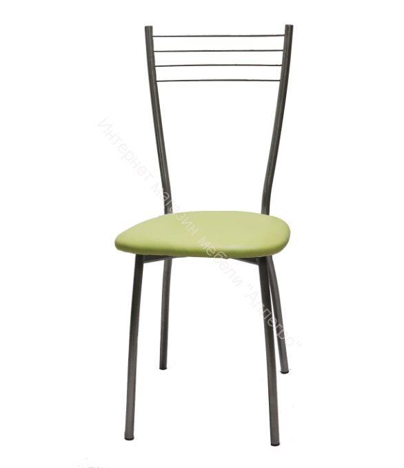 "Кухонный стул ""Сильвия"" оливковый/серебристый металлик"