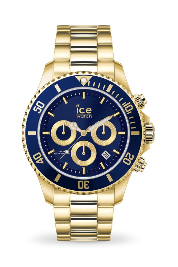 Ice Steel - Gold blue Chrono