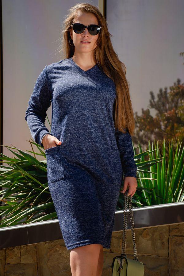 Платье Люрекс [синий]