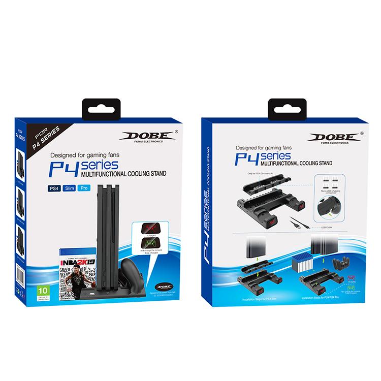 Dobe Подставка с системой охлаждения и функцией зарядки геймпадов Multifunctional Cooling Stand для Playstation 4 (TP4-19076)