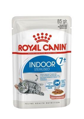 Консервы Royal Сanin Indoor Sterilised 7+ Years Gravy кусочки в соусе  для домашних кошек от 7-12 лет 85гр