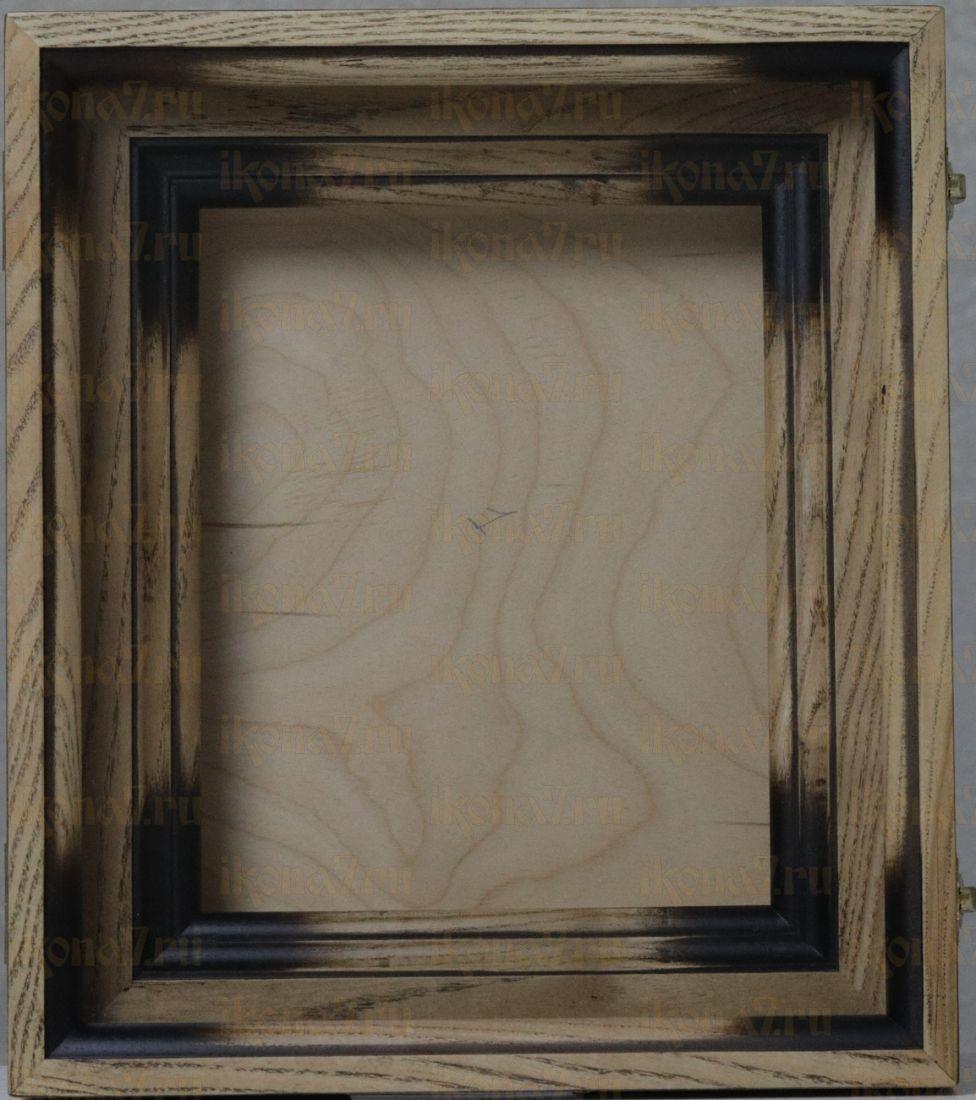 Киот под икону ясень простой (черная патина)