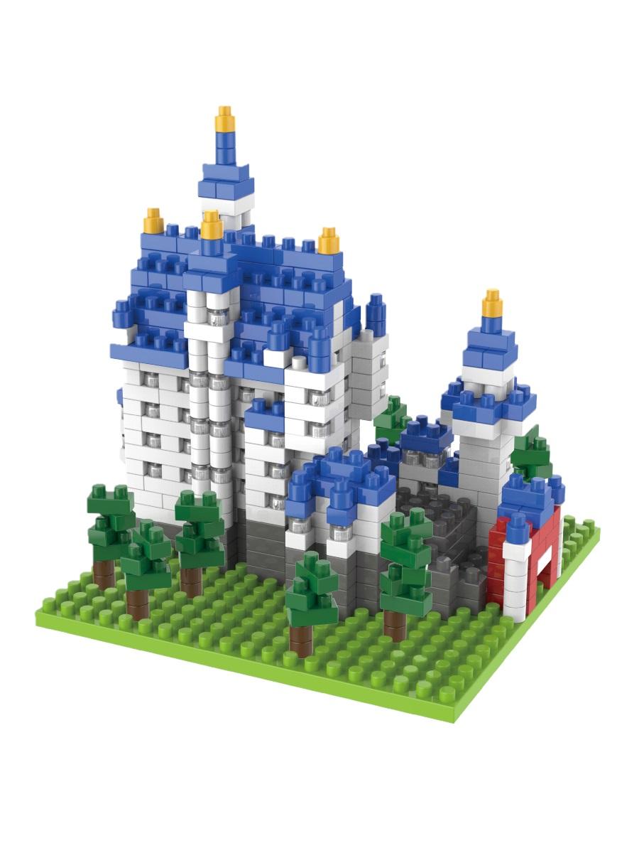 Конструктор Wisehawk & LNO Замок Нойшванштайн Германия 530 деталей NO. 3437 New Swan Stone Castle Gift Series