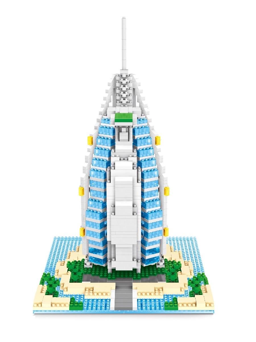 Конструктор Wisehawk & LNO Отель Бурдж-эль-Араб 909 деталей NO. 2459 Burj AI Arab Hotel Gift Series