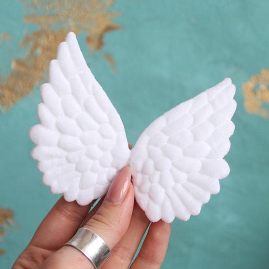 Кукольный аксессуар Крылья ангела белые 10 см