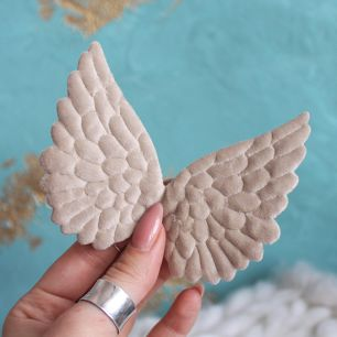 Кукольный аксессуар Крылья ангела бежевые 10 см