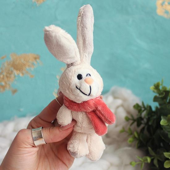 Игрушка для куклы -  Зайка с розовым шарфиком NICI, 11 см