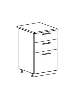 Шкаф нижний с 2 ящиками Юлия ШН3Я 500