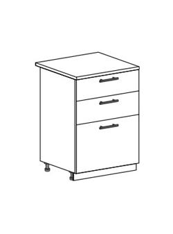 Шкаф нижний с 2 ящиками Юлия ШН3Я 600